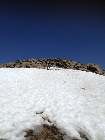 Mount Evans: Snow in June at the top.