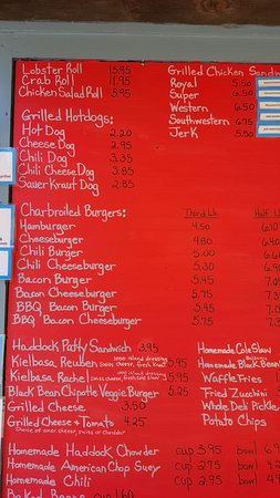 Damariscotta, ME: Menu board