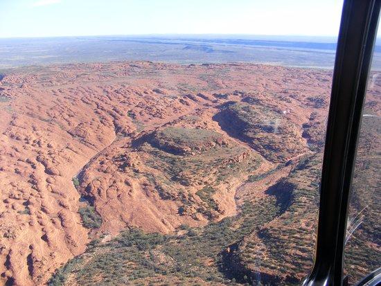 Kings Canyon, Australia: vue du ciel