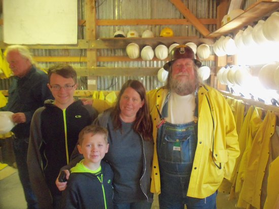 Silverton, CO: My kids and I with our awesome tour guide
