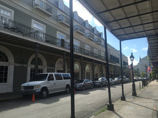 Bourbon Orleans Hotel: Looking at the hotel from the corner of the street