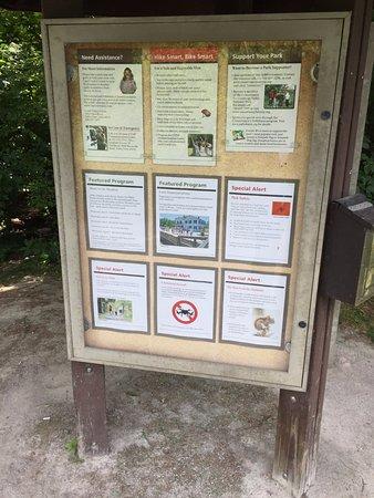 Brecksville, OH: Information booth