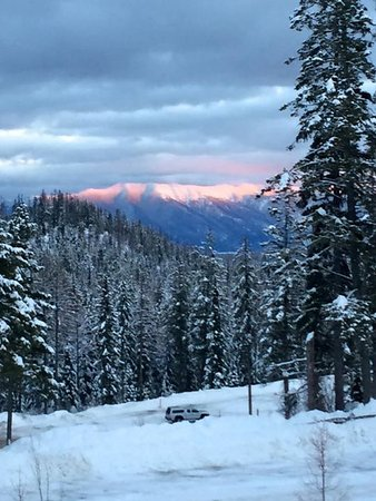Whitefish Mountain Resort: Sunset..better be quick!