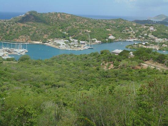 English Harbour, Antigua: Looking down at dockyard !