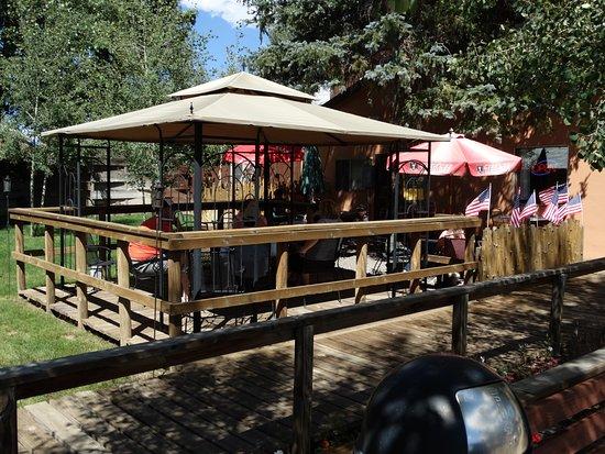 Enjoy eating outdoors at KAW-LIJA'S Restaurant, Eagle Nest, NM