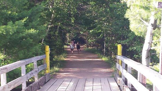 Minocqua, Висконсин: Trail to town