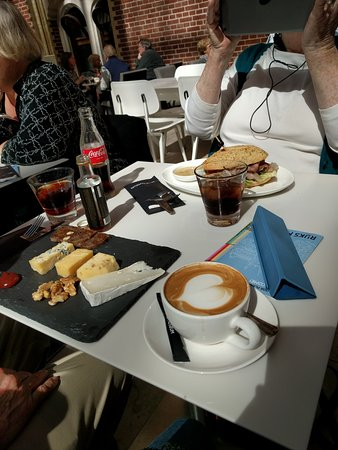 Rijksmuseum Cafe Coffee cheese plate (surprise best thing) basic ham sandwich & Coffee cheese plate (surprise best thing) basic ham sandwich ...