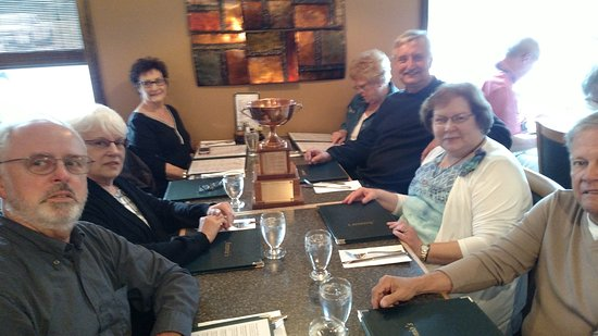 Red Lake, Canada: Picture of part of our Convention Group Eating at Antonio's