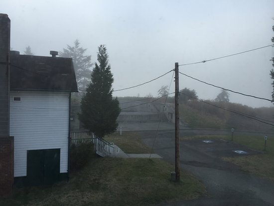 Port Townsend, WA: View of Stoddard and foggy waters from #245 upstairs bedroom