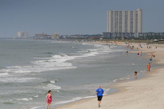 Myrtle Beach State Park: beach from the pier