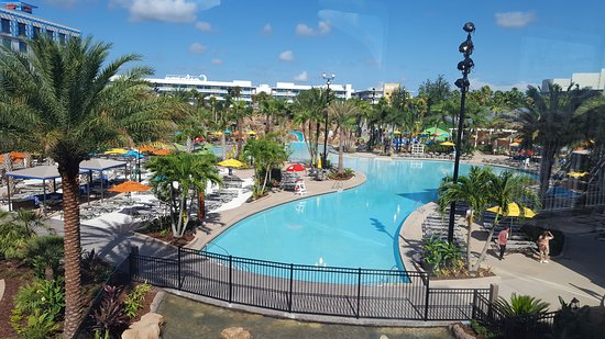 The pool view picture of loews sapphire falls resort at for Pool show in orlando 2016