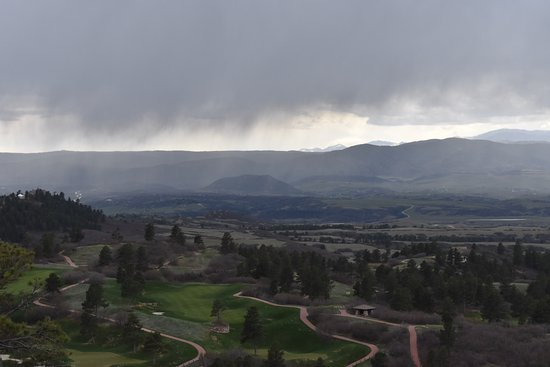 Highlands Ranch, Kolorado: Golf ground covered with clouds