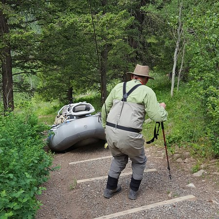 Island Park, ID: Once in a lifetime trip in Cardiac Canyon.  We wouldn't have made to the river without our guide