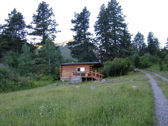 Livingston, MT: One of the cabins at 63 Ranch