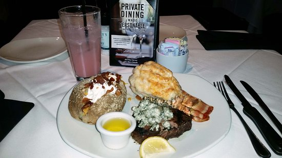 Englewood, CO: Great Surf N Turf. Filet Mignon with a 10 oz Lobster Tail. So good!