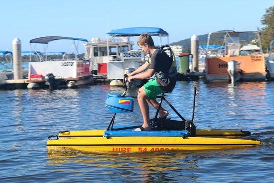 Ноосавилл, Австралия: Water bike