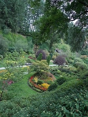 Butchart Gardens: It's so quiet and peaceful here