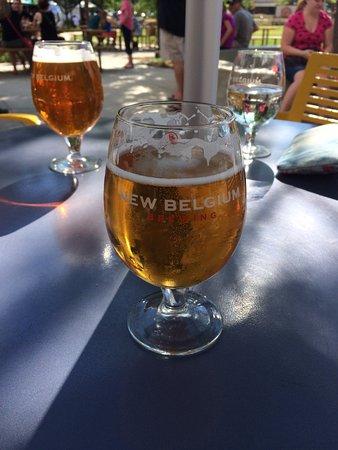 New Belgium Brewing: Brews on the patio