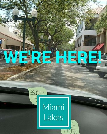 Arriving to Main Street Miami Lakes!