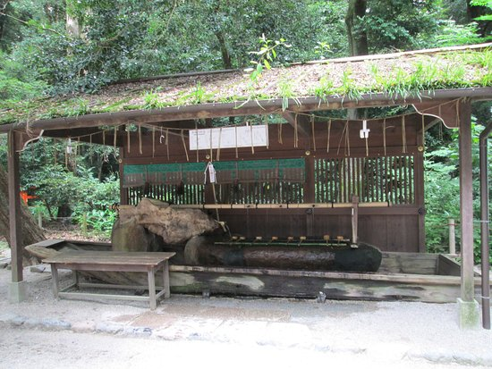 Shimogamo Jinja: Here, people purify their hands and mouths.