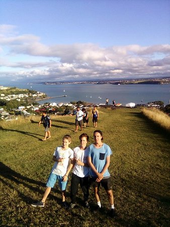 Devonport, New Zealand: Summer views, apologise for pose.