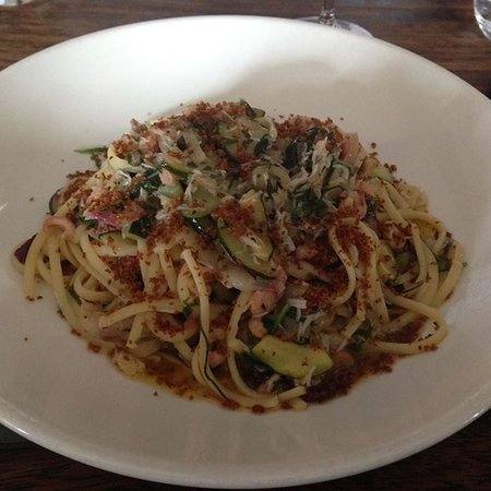 Abergavenny, UK: Crab linguine