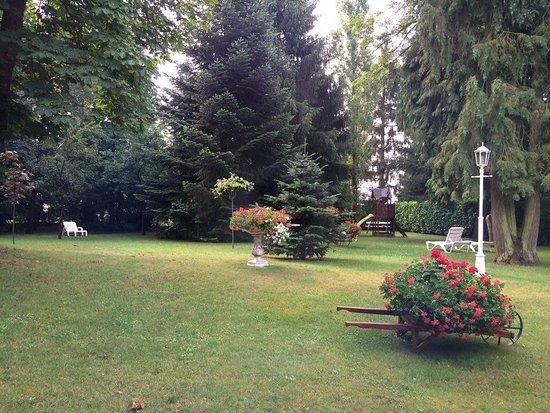 Hotel Meyer : Jardin arboré et fleuri