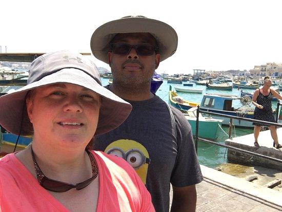 Marsaxlokk, Malta: Selfie from the pier