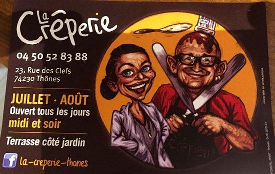 Thones, Fransa: Les patrons de la crêperie