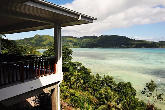 Anse Boileau, Seychellen: uitzicht balkon slaapkamer