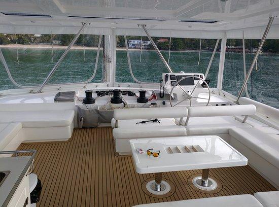 White Bay: Catamaran upper deck