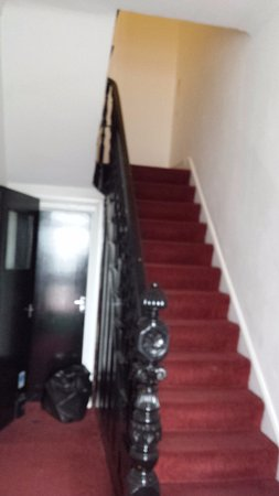 Ilford, UK: stairs to the rooms...