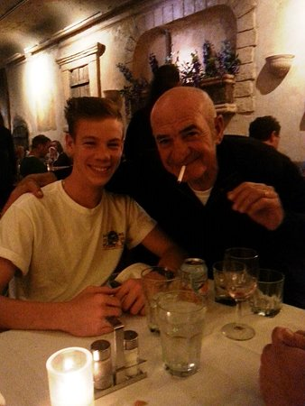 My son and the owner of Ristorante Parma