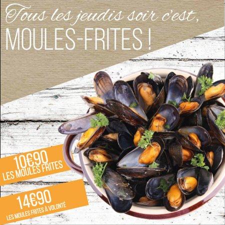 Noyon, Frankrig: Moules Frites le jeudi soir