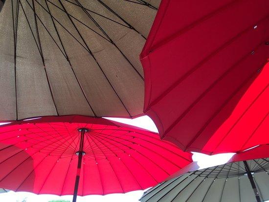 Blagnac, Francia: Farandole de parasols ...Bo Bun au bœuf et aux nems et bière vietnamienne