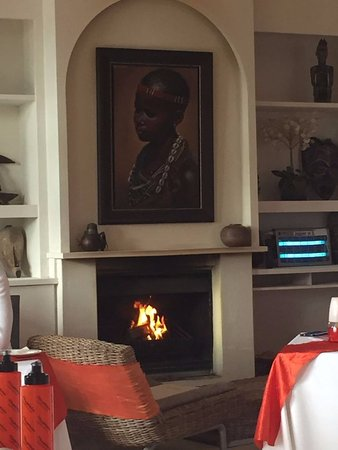 Western Cape, South Africa: The fireplace