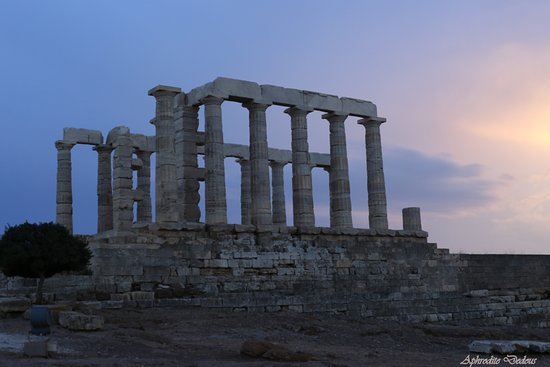 Sounio, Yunanistan: The temple of Poseidon