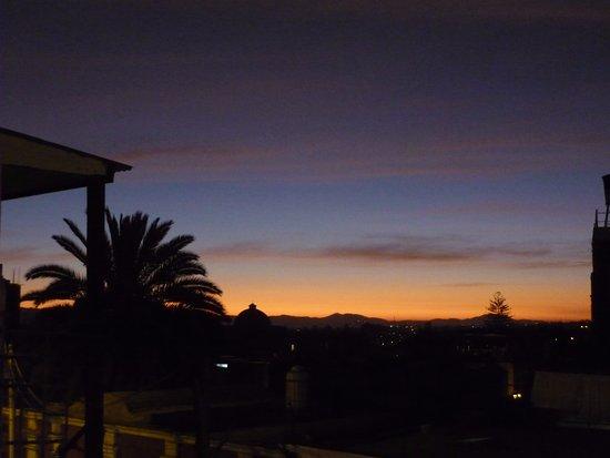 Hostal Nunez: Sunset from hotel terrace