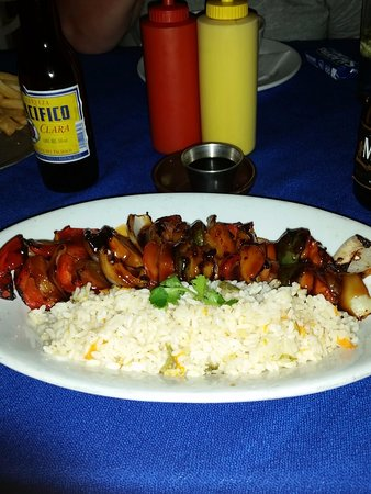 Tio Pablo's: Vegetable kebabs
