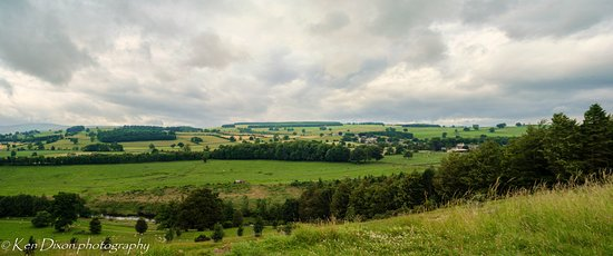 Пенрит, UK: View across valley from Lowther Hall