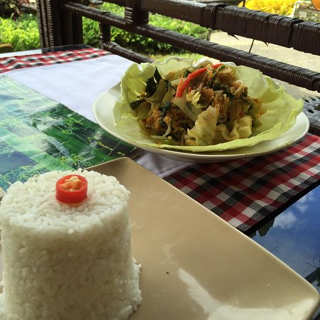Tegalalang, Indonesia: Nasi Putih - spicy or not as you wish - delicious