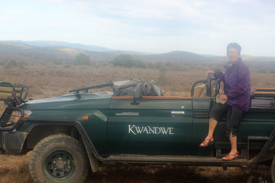 Kwandwe Private Game Reserve, Sør-Afrika: Our safari 4 wheel drive