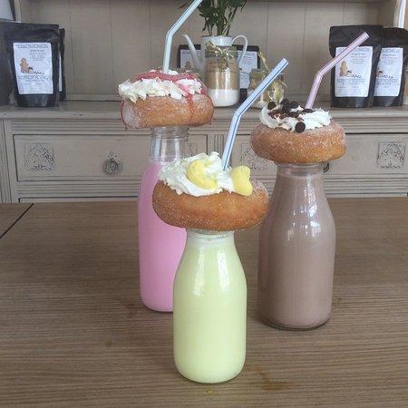 Barton-upon-Humber, UK: Donut milkshakes