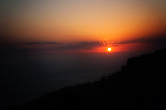 Sunset from Dingli Cliffs in Malta