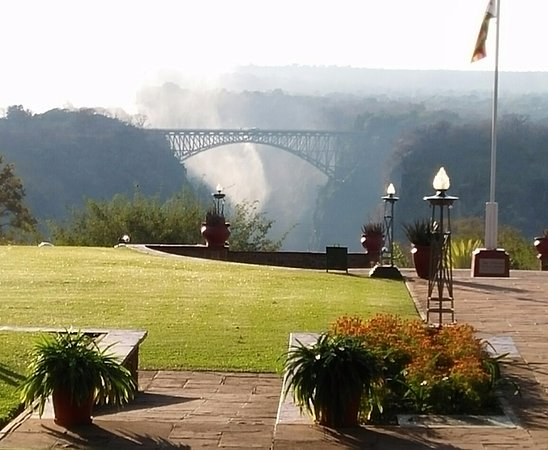 The Victoria Falls Hotel: The Victoria Falls bridge, conceived by Cecil Rhodes, links Zimbabwe and Zambia.