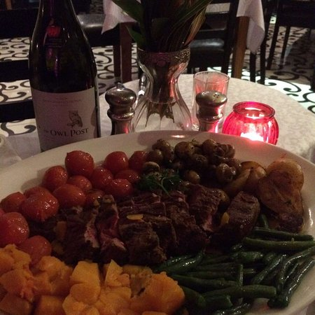 Stephnie's: Chateaubriand for two & Neethlingshof Owl Post
