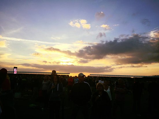 Silverstone, UK: Sunset on Saturday