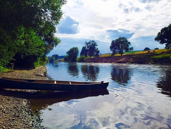 Ross-on-Wye, UK: View from the shore