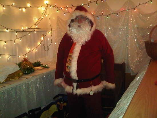 Strood, UK: Probably the best Church Fair Father Christmas ?