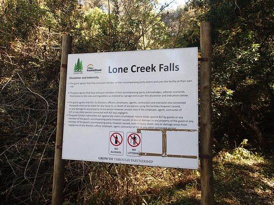 Sabie, Sudáfrica: Lone Creek Falls Sign